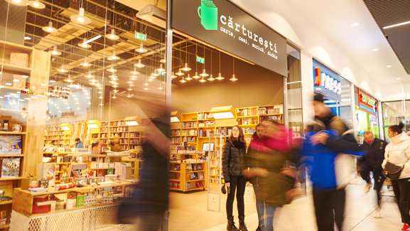 Brasov carrefour property division shopping mall carturesti library store