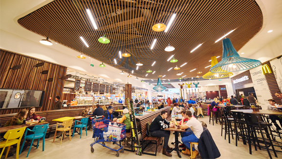 Brasov carrefour property division shopping mall food court mc donald's