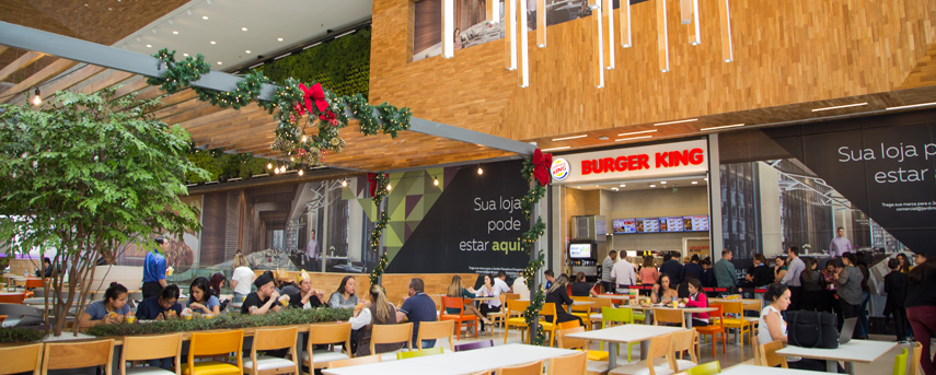 Jardim Pamplona shopping mall food court restaurants burger king